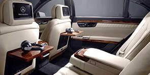 Intérieur 01 de la Limousine Mercedes Classe S